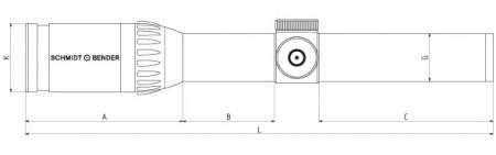 Schmidt & Bender 1.1-4x24 Zenith, reticul FD7,tub 30 mm, ajustare Posicon, cod: 776-811-708