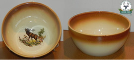 Farfurie supa ceramic cu motive vanatoresti