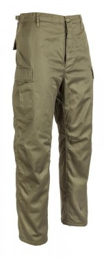 Poze Pantalon vanator BDU captusit Verde Fleece