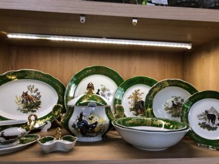 Set de masă pentru 6 persoane cu motive vânătoreşti
