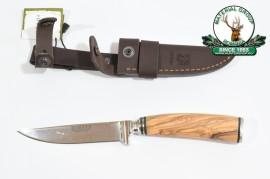 Cutit de vanator Joker CO97 - maner din lemn natur, 110 mm
