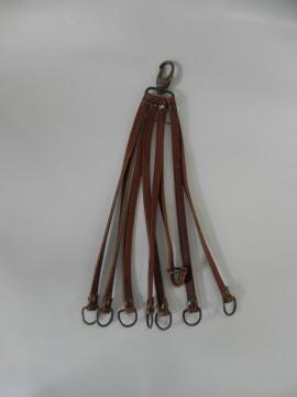 Ciorchinari piele maro cu patru catarame - Hunting
