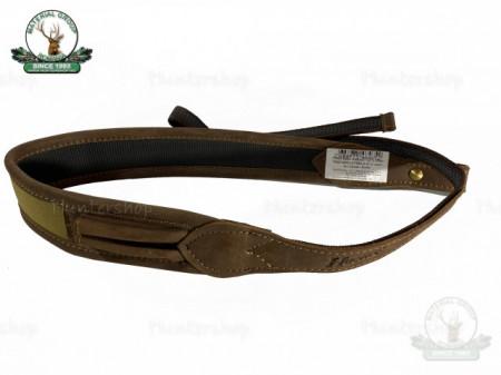 Curea arma combinata textil maro piele 50 cm suport 2 cartuse