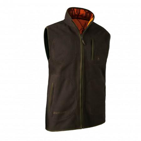 Deerhunter vesta gamekeeper bonded fleece reversabila culaore verde& camo portocaliu Cod artico: 4526
