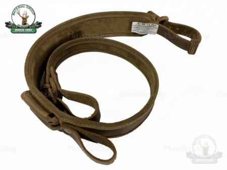 Curea arma piele maro captusit velur cu latimea de 50 cm cu port de 2 cartuse Hunting BLS