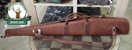 Husa arma din piele maro ptr. carabina fara luneta - 130cm