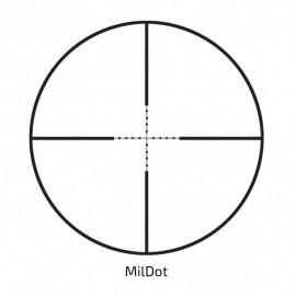 Luneta Delta TITANIUM 4-16x42 AO cu reticul MilDot si tub de 25,4mm recomandat pentru caibru mic (max 4000J)