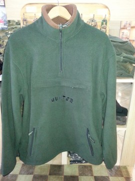 Poze Pulover vanator Fleece verde-maroniu Hunter