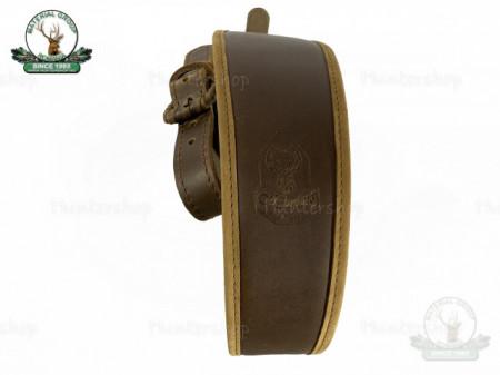 Curea arma piele maro captusit velur latime 70 mm Hunting lux