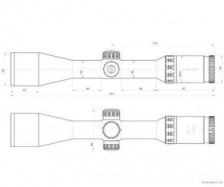 Luneta KAHLES HELIA 2-10x50i, reticul 4-Dot