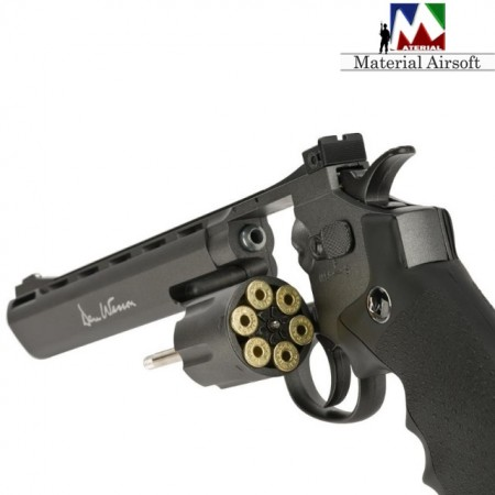 "Poze Revolver Airsoft Dan Wesson 8"" full metal 16182 ASG"