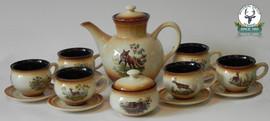 Poze Set cafea / Ceai de 6 persoane ceramic motive vanatoresti slovacia