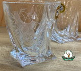 Set de pahare din 6 buc. din sticla GRAVAT cu motive vanatoresti ptr. WHISKY - Quatro 280ml cod.22