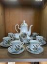 Set cafea Mocca de 6 perosane din portelan cu motive vinatoresti Leander Cehia 15 Piese