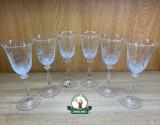 Set de pahare din 6 buc. din sticla gravat cu motive vanatoresti ptr. Vin 240ml cod.3