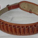 Cartusiera piele marou captusit pentru 25 cartuse cal.20