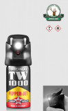Spray de autoaparare cu piper + Lanterna LED - TW 1000 { 40 ml. }