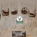 Set de pahare din 6 bucati champagne