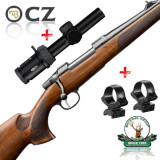 set CZ557 Lux II + Meopta Optika 6 1-6x24 + suport luneta