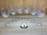 Set de pahare din 6 buc. st. Hubert gravat ptr. VIN de 250ml in cutie ornament. 1306005