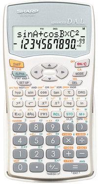 Calculator electronic stiintific Sharp EL531WH,297 functii,display pe 2 linii,4 cursoare independente