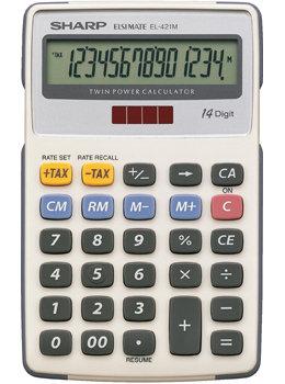 Calculator Sharp EL421M 14 digit TAX