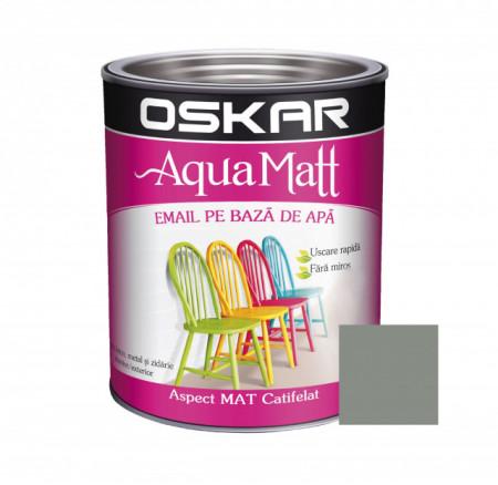 OSKAR Aqua Matt Gri Scandinav, 0.6 l