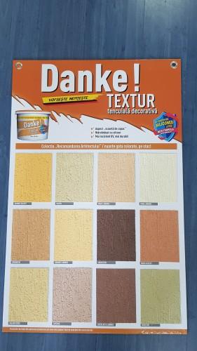 Tencuiala Decorativa Danke Pret.Danke Textur Silikon Galben Ocru