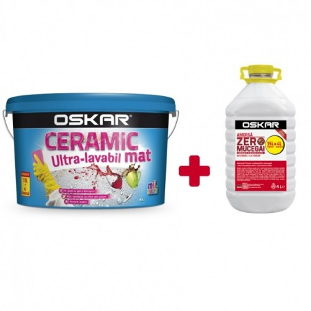 OSKAR CERAMIC 15 l Ultra-lavabil MAT + amorsa Oskar Zero Mucegai 4 L