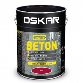 OSKAR DIRECT PE BETON - Rosu 10 L
