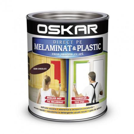 OSKAR Vopsea Direct pe melaminat si plastic, interior / exterior, CIOCOLATIU, 0.6 L