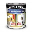 OSKAR Vopsea Direct pe melaminat si plastic, interior / exterior, ALB COCOS, 0.6 L