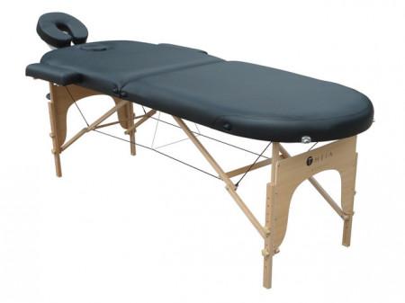Pat de masaj 2 sectiuni pliabil oval