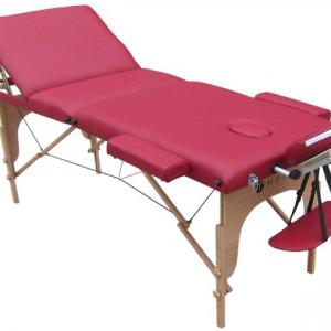 Pat de masaj 3 sectiuni lemn