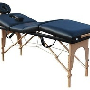 Pat de masaj 4 sectiuni pliabil lemn