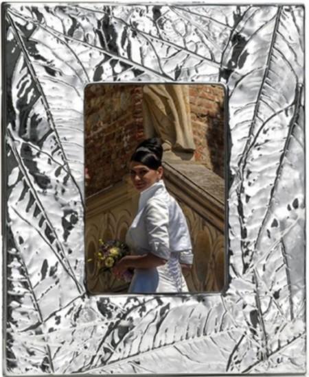 """Poze Rama foto placata argint 925 """"Leaves"""""""
