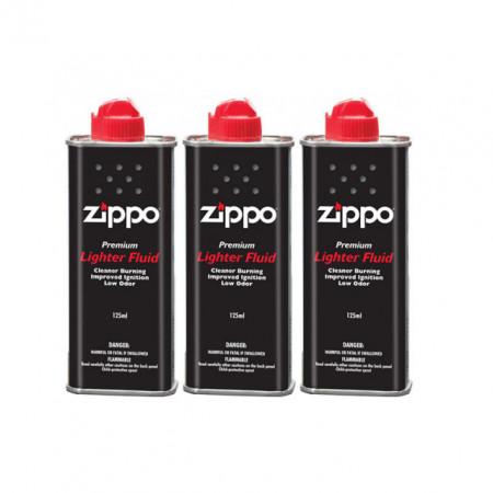 Poze Benzina Zippo pentru incarcat brichete, 3 flacoane (set) , 125 ml.