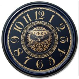 Ceas de perete Opera Negru/Auriu