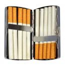 Tabachera Betty Boop, metalica, pentru tigarete de 85 mm (King Size), capacitate 10 buc