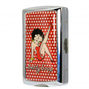 Tabachera Betty Boop, metalica, pentru tigarete de 85 mm (King Size), capacitate 10 buc