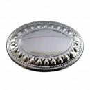 placuta ovala argintata pentru personalizare