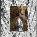 "Rama foto placata argint 925 ""Leaves"""