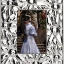 "Rama foto placata argint 13x18cm""Flowers"""