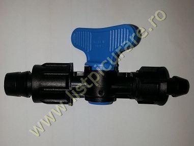 Minirobinet banda Ø 16 sau 17mm cu garnitura