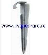 Carlig, tija fixare pe randuri, in pamant, banda sau tub, L= 14 cm