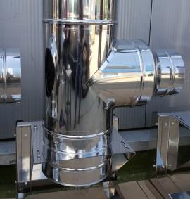Kit cos fum din inox Ø 160mm, H= 4m, neizolat