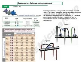 Duza picurare cu autocompensare 2, 4 sau 8 litri/ora