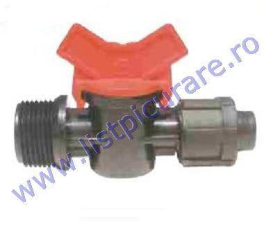 Minirobinet 1/2'' Fe x banda picurare