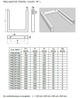 Prelungitor colier L DP(izolat) . Alege Ø mm!