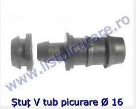 Stut tub cilindric  V 16 cu garnitura